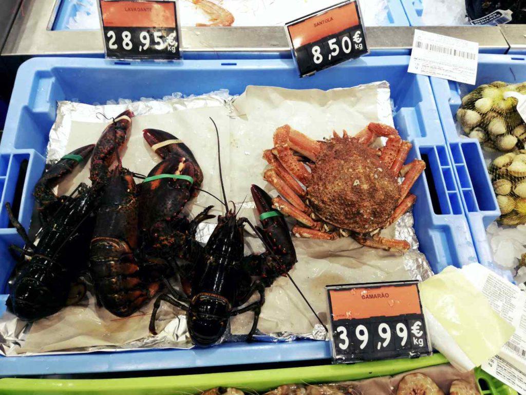 Owoce morza i ryby w Portugalii - santola