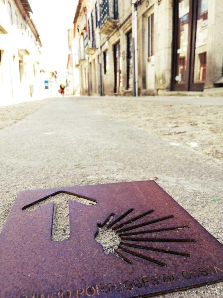 Północna Portugalia - Caminha - znak pielgrzyma