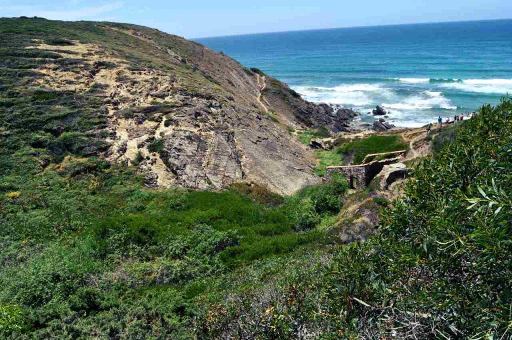 Plaże Costa Alentejana - Praia da Amalia - pejzaż