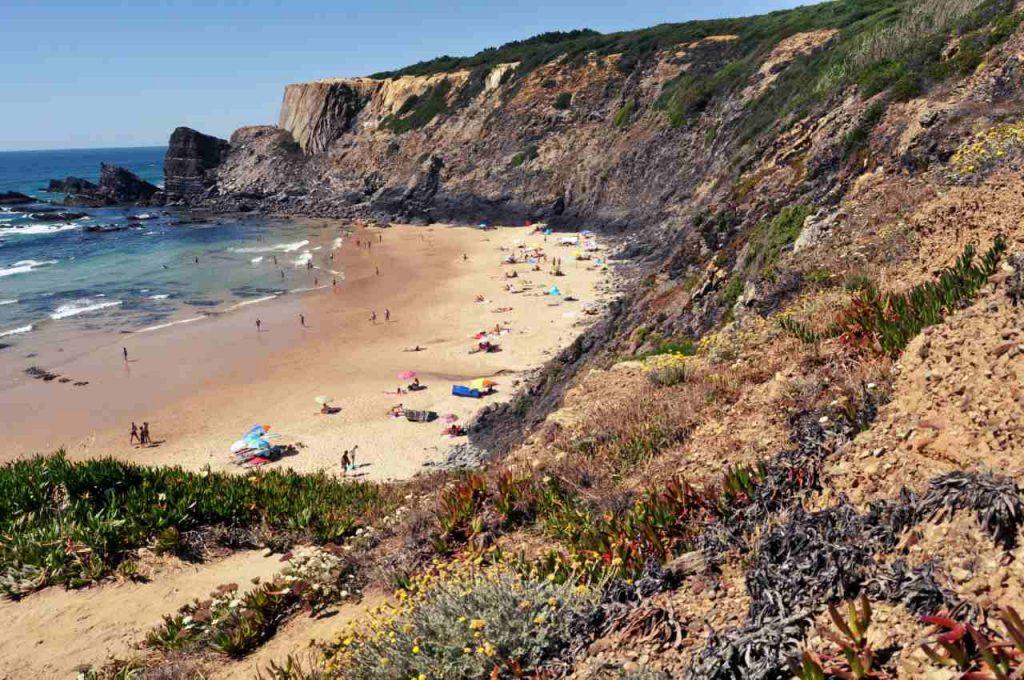 Plaże Costa Alentejana - Praia da Amalia - widok z góry