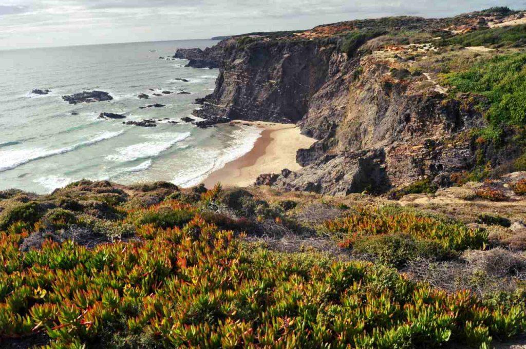 Plaże Costa Alentejana - Praia da Pedra da Bica