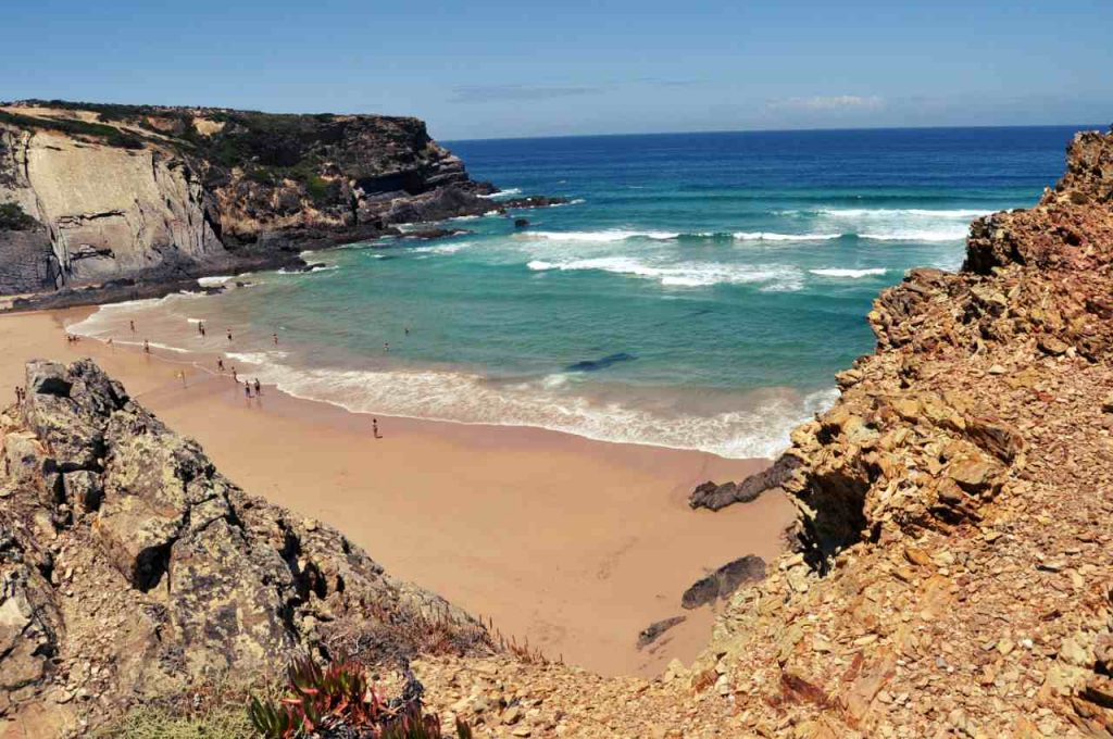 Plaże Costa Alentejana - Praia do Carvalhar z góry