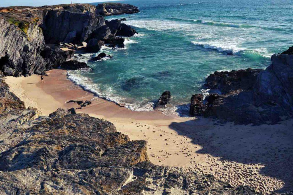Plaże Costa Alentejana - Praia do Espingadeiro