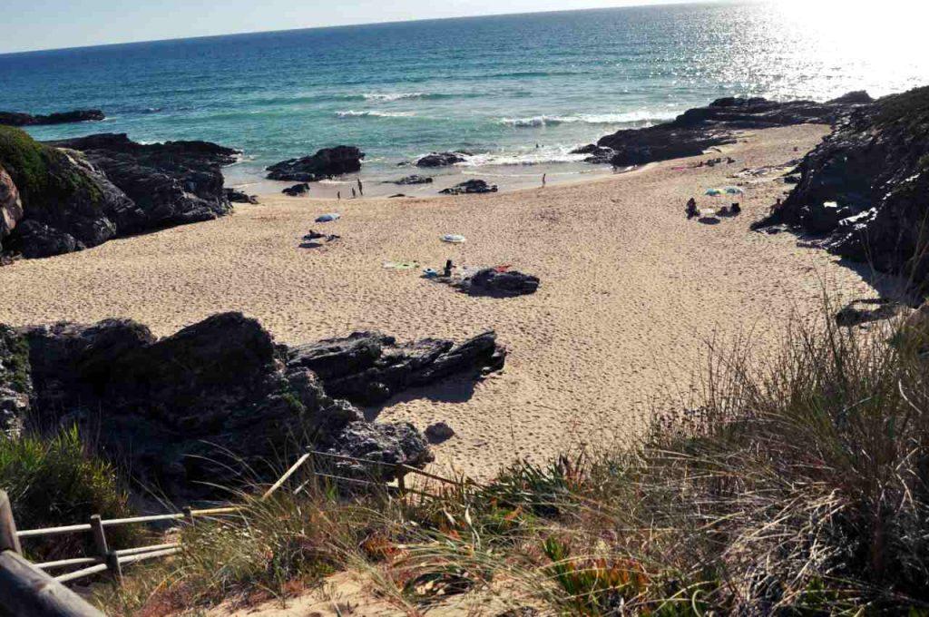 Plaże Costa Alentejana - Praia do Malhao - schody