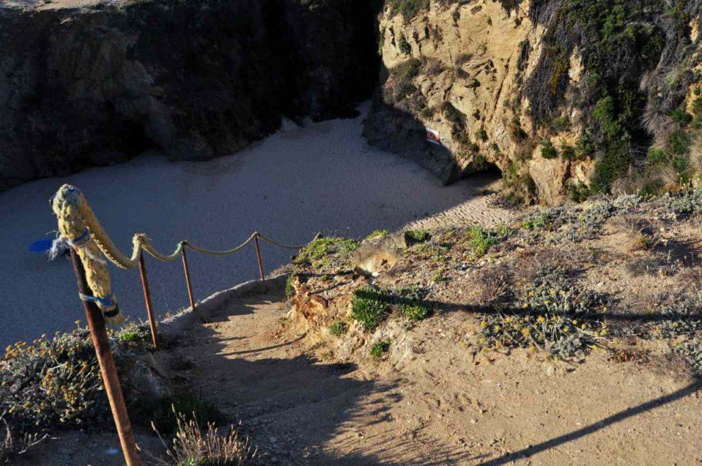 Plaże Costa Alentejana - Praia do Salto - zejście na plażę