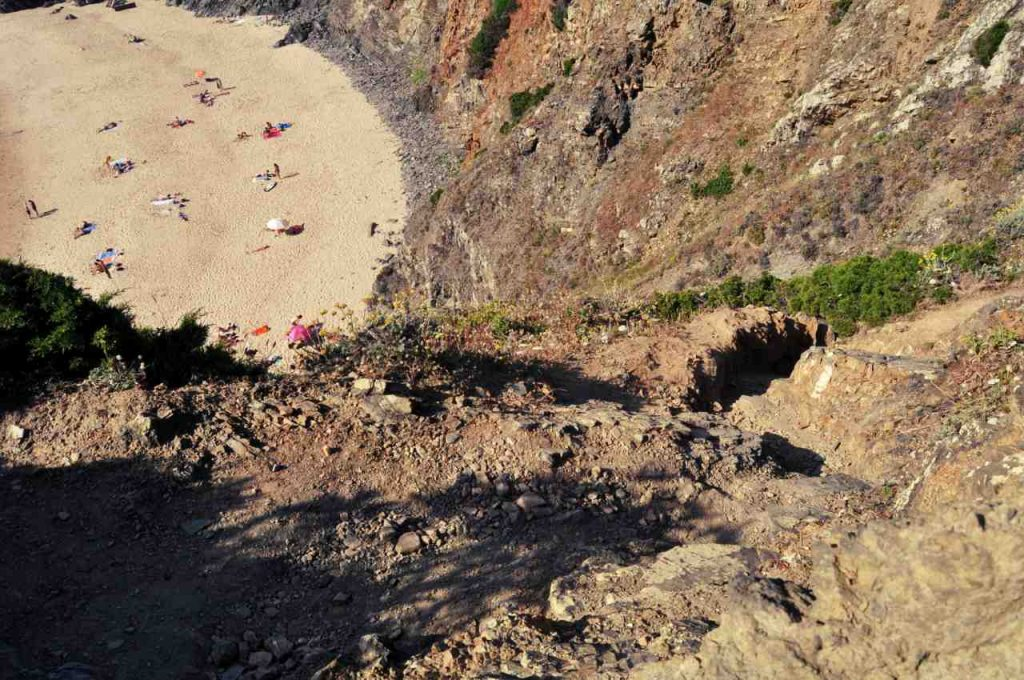 Plaże Costa Alentejana - Praia do Tonel - zejście