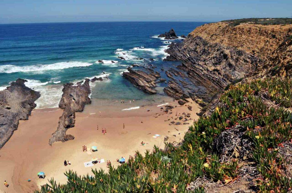 Plaże Costa Alentejana - Praia dos Alteirinhos - klify