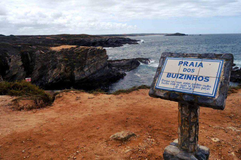 Plaże Costa Alentejana - Praia dos Buizinhos - tablica