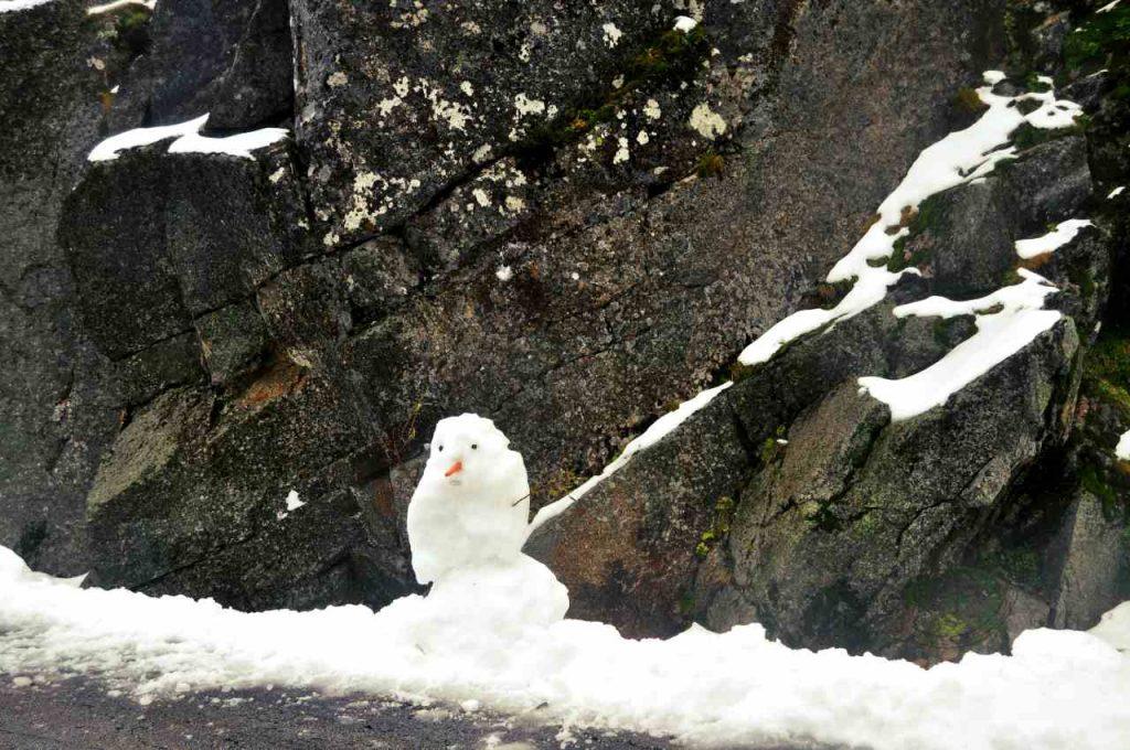 Czy w Portugalii pada śnieg - bałwan