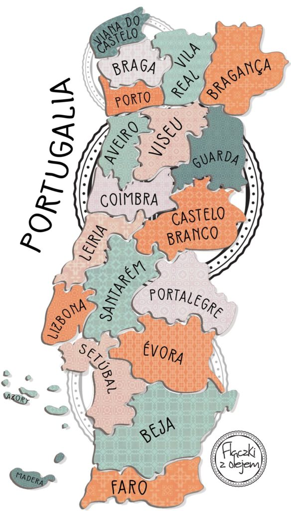 Mapa Portugalii - Flaczki z olejem blog