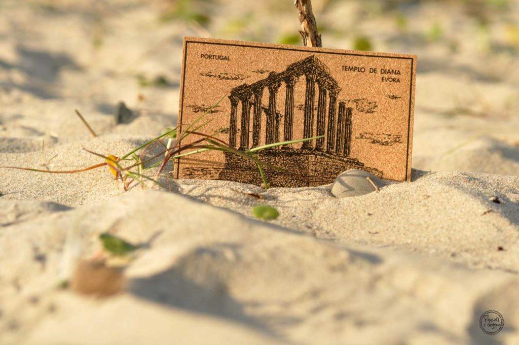 Produkty z korka - Portugalia - kartka pocztowa z korka